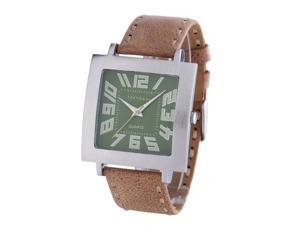 TOKYObay T105-TAN Stainless steel Brown Leather  Band 