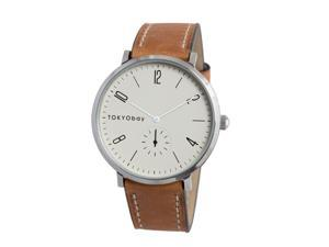 Tokyobay T336-BR Men's Brown Leather Band White Dial Noah watch
