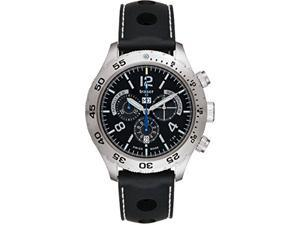 Traser 105036 Men's H3 Elegance Chronograph Black Silicone Band Black Dial Watch