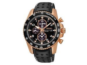 Seiko SSC274 Men's Stainless Steel Sportura Solar Chronograph Black Watch