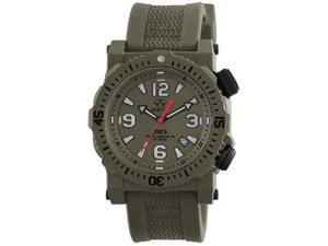 Reactor 43809 Men's Titan OD Nitromid Polymer Green Rubber Band Green Dial Watch