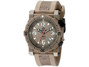 Reactor 43821 Men's Titan Stainless Steel Brown Rubber Band Brown Dial Watch