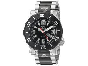Reactor 45501 Unisex Atlas Midsized Dive Stainless Steel Two-Tone Bracelet Band Black Dial Watch