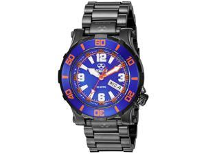 Reactor 45508 Unisex Atlas Midsized Dive Black Bracelet Band Blue Dial Watch