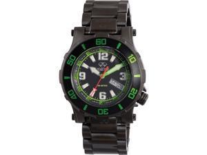Reactor 45509 Unisex Atlas Midsized Dive Black Bracelet Band Black Dial Watch