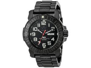 Reactor 50501 Men's Trident 2 Never Dark Black Bracelet Band Black Dial Watch
