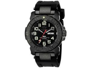 Reactor 50581 Men's Trident 2 Never Dark Black Rubber Band  Black Dial Watch