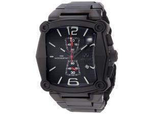 Reactor 57501 Men's Stainless Steel Black Bracelet Band Black Dial Watch