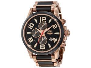 Reactor 67101 Women's Stainless steel Two-tone Bracelet Band Black Watch