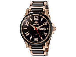 Reactor 69101 Women's  Stainless steel Two Tone Bracelet Band Black Dial Watch