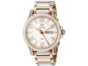 Reactor 69105 Women's Stainless Steel Two Tone Bracelet Band White Dial Watch
