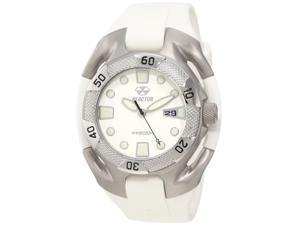 Reactor 71805 Men's Stainless Steel White Rubber Band White Dial Watch