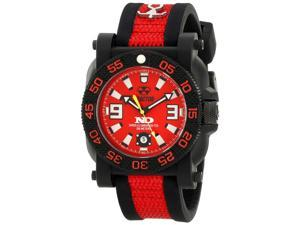 Reactor 73911 Men's Resin Red Bracelet Band Red Dial Watch
