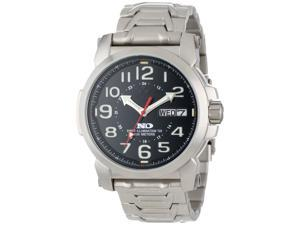 Reactor 74610 Men's Stainless Steel Silver Bracelet Band Gray Dial Watch
