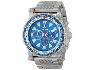 Reactor 91903 Men's Stainless steel Silver Bracelet Band Blue Dial Watch