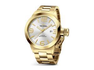 TW Steel CB81 Yellow Bracelet Band Silver Dial Watch