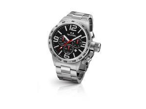 TW Steel CB7 Men's Stainless Steel Bracelet Silver Band Black Dial Watch