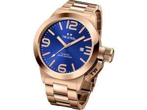 TW Steel CB181 Men's Stainless Steel Rose Gold Bracelet Band Blue Dial watch