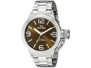 TW Steel CB21 Men's Stainless Steel Silver Bracelet Band Brown Dial Watch