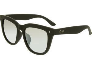 Quay QM-000102-BLK/SLV Men's Gradient Black Frame Clear Lens Square Sunglasses