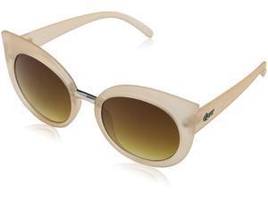 Quay QW-000022-BEIGE/BRN Unisex Beige Frame Brown Lens Cat eye Sunglass