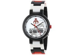 LEGO 3408-STW9 Kid's Star Wars Boba Fett Multi-Color Band White Dial Watch