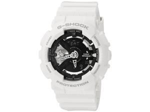 Casio G-Shock GMAS110CW-7A1CR  Womens White Resin Band Black Dial Watch