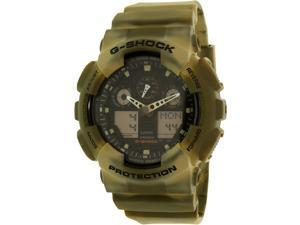 Casio G-Shock GA100MM-5ACR Men's Green Resin Band Black Dial Watch