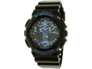 Casio G Shock GA100CB-1ACR Men's Graphic Black Resin Band Multi-Color Watch