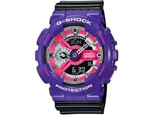 Casio G Shock GA110NC-6ACR Men's Neo Pop Colour Black Resin Band Black Dial Watch