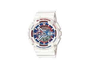 Casio G Shock GA110TR-7ACR Men's Tricolour Maritime White Resin Band Multi-color Dial Watch