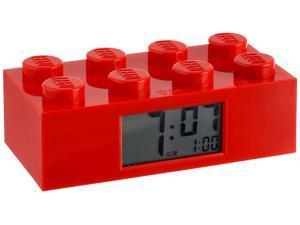 Lego Clocks Red Brick Digital Grey Dial Alarm clock #9002168