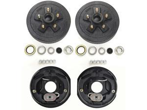 "Set of 2 Trailer 5 on 4.5 Hub Drum Kits with 10""X2-1/4"" Electric brakes for 3500 lbs axle - 22001/21003"