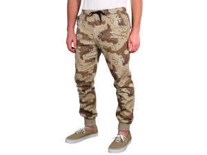 Dirty Robbers Denim Co. Men's Hillside Jogger Pants-Desert-Large
