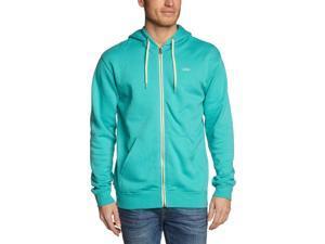 Vans Men's Core Basics Full Zip Skateboard Hoodie-Turquoise-2XL