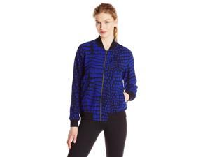 Adidas Originals Women's NY Printed Super Star Track Jacket-Black/Blue-Large