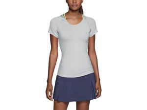 Nike Women's Dri-Fit Advantage Court Tennis Top-Light grey-XS