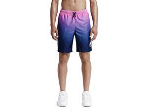 Nike Men's Gradient Woven Sport Casual Shorts-Blue/Pink-XL