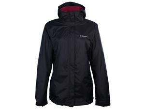 Columbia Women's Marys Peak Interchange Jacket-Black/Burgundy-Large