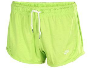Nike Women's Time Out Tempo Casuals Shorts-Lime-Large