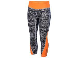 Nike Women's Dri-Fit Racer Leopard Print Crop Running Tights-Leopard/Orange-Med