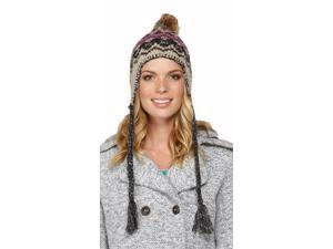 Roxy Juniors Harvest Beanie Hat Cap-Beige/Multi