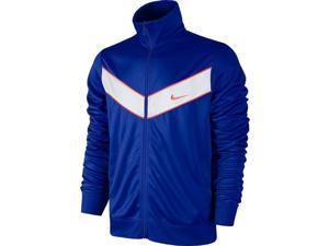 Nike Men's Striker Full Zip Mock Track Jacket-Deep Royal Blue-Large