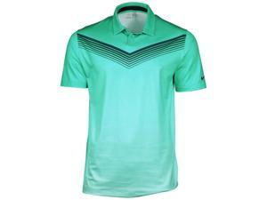 Nike Men's Dri-Fit Major Moment Slow Roll Golf Polo-Turquoise-Small