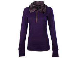 Nike Women's Dri-Fit Wool Running Hoodie-Eggplant-Small