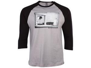 Vans Big Boys' (8-20) Off The Wall Pix Raglan T-Shirt-Granite/Black-Medium