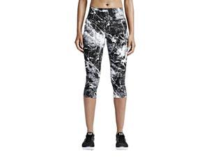 Nike Women's Dri-Fit Legendary Engineered Training Tight Capris-Black Marble-Large