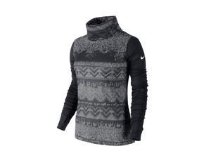 Nike Women's Dri-Fit Pro Hyperwarm Nordic Training Top-Black/Gray-Medium