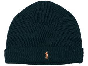 Polo Ralph Lauren Men's Merino Wool Thermal Stitch Beanie-Dark Green