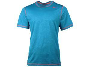 Nike Men's Dri-Fit Novelty Legend Training T-Shirt-Teal/Hyper Orange-Large